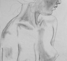 female nude.... pencil study #1 by Juilee  Pryor