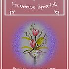 """Tulip Posie Greeting Card """"Thinking of Someone Special"""" 1Jn 4:7a by Phil413Jay"""
