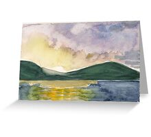 sealers' cove  sunset  Greeting Card
