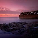 Maryport Pier Just After Sunset by Brian Kerr