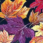 Colours of Autumn - Abstract by  Linda Callaghan