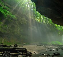 Rock & Light - Rocky Hollow at Turkey Run State Park by Mark Heller