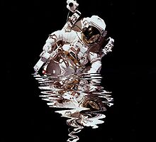 Dipping Reflections - Astronaut by Jan Szymczuk