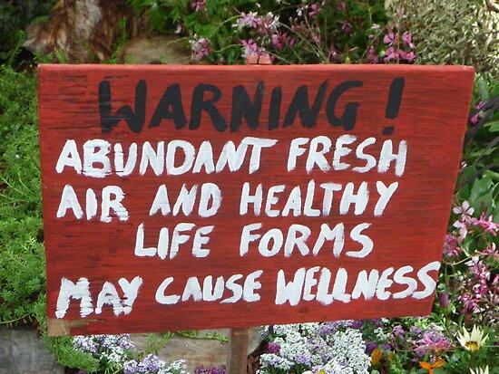Warning Sign in Garden by Lynne Kells (earthangel)