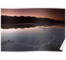 Fire and Ice in Death Valley Poster
