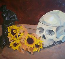 skull still life by Jeremiah Gordon