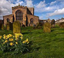 St Oswalds church at Easter by Shaun Whiteman