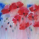 Poppies and Cornflowers by artbyrachel