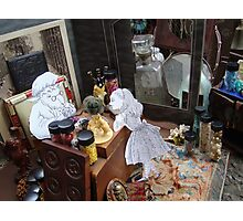 Alice in The White Sheep's Shop Photographic Print