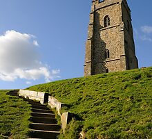 St Michael's Tower, Glastonbury Tor, Somerset, UK by buttonpresser