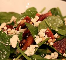 Spinach Salad with Blood Oranges and Blue Cheese by Natalie Whatley