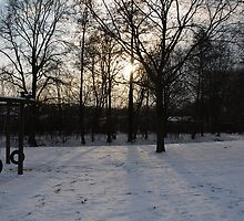 Snowy Sunset - Münster by kitti