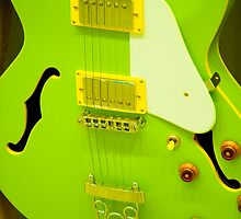 Lime Green guitar by Margaret Whyte