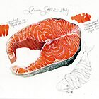 Salmon Steak Study by MaryKatC
