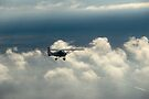 Flying along with a friend through strorm clouds. by Rudi Venter