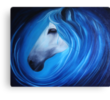 Seahorse in Oils Canvas Print