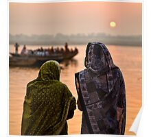 Sunrise - Ganges River, Varanasi Poster
