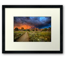 Trail to Hell Framed Print