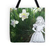 Alice and the Talking Flowers Tote Bag