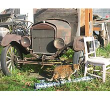 old truck and a tiny dancer Photographic Print