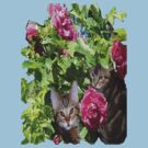 Kittens in The Roses,2 by MaeBelle