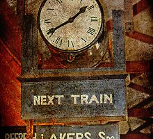 queenscliff railway clock by Deb Gibbons