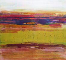Seaweed Shore, mixed media on canvas by Sandrine Pelissier