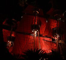 Las Vegas, NV: Bloody Red Pirate Sails by tpfmiller