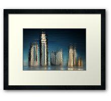 Golden Skyline © Vicki Ferrari Photography Framed Print