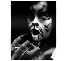 Face Painter (BW) Poster