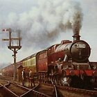 LMS Jubilee at Edge Hill by Mike Jeffries