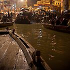 Puja - Ganges River, Varanasi by Andrew To