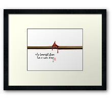 The Beautiful Flower Has a Mean Sting... Framed Print