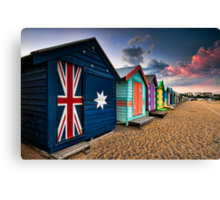 Brighton Beach Box Canvas Print