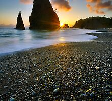 Ruby beach sunset by Tomas Kaspar