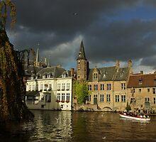 Clouds over Brugge by Béla Török