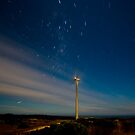 Cape Bridgwater Wind Farm Star Trail by Murray Wills