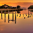Pole Reflection - Strahan Tasmania by Hans Kawitzki