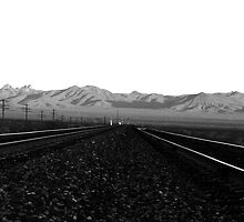 Rail road tracks by Phil Parker