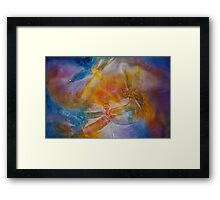 Watercolour: Dragonfly dance Framed Print