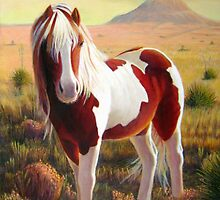 """Southwest Wild Paint Pony"" by Charles  Wallis"