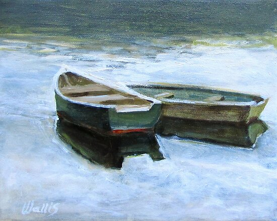 The Pond Row Boats #2 by Charles  Wallis