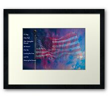 The Rockets' Red Glare Framed Print