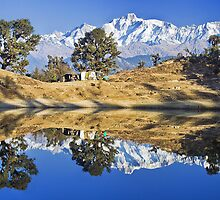 Reflections in Lake Deoria by soumen