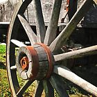 Wagon Wheel I by Todd A. Blanchard