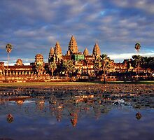 Sunset at Angkor Wat by KittySolntseva