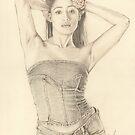 """Mya"" Color Pencil Artwork by John D Moulton"