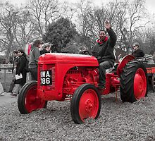 Hot Seat on the Red Tractor by DonDavisUK