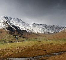 The Snow Capped Langedales by Brian Kerr