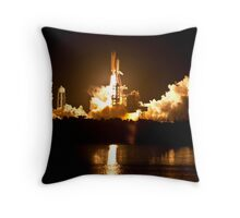 STS-131 Launch - Go Discovery!!! Throw Pillow